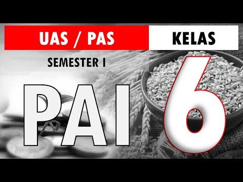 Latihan Soal UAS PAS PAI BP Kelas 6 SD Kurikulum 2013 Semester 1 (Ganjil) dan Kunci Jawaban