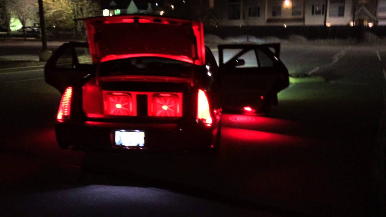 Cadillac Dts Leds Hids Complete With Ghost Lights Youtube
