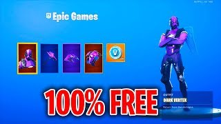 HOW ANYONE CAN GET DARK VERTEX FOR FREE WITHOUT XBOX IN FORTNITE! - IN STORE METHOD