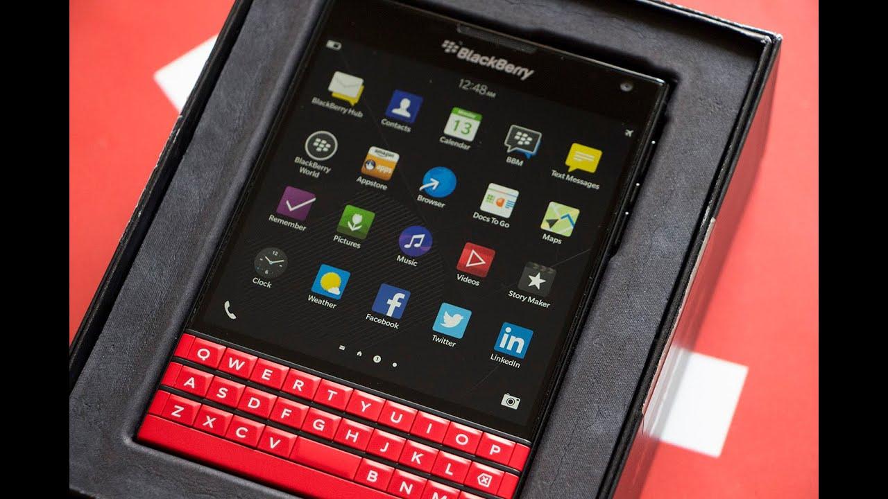 Red BlackBerry Passport Unboxing