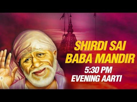 Shirdi Sai Baba Evening Aarti (5:30 PM) by Suresh Wadkar   Full Mandir Sunset Dhoop Aarti