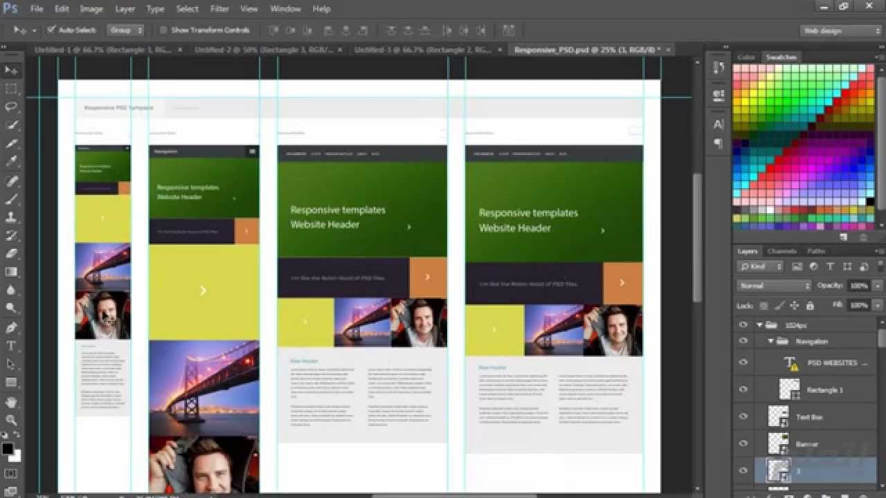 et3alem.com | Creating responsive templates in Photoshop