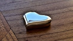 A Solid Silver Mirrored Heart for Valentine's Day
