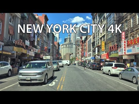 Driving Downtown - NYC Lower East Side 4K - USA