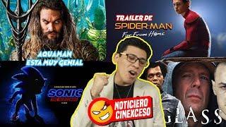 📰Notixceso: Fecha del Trailer de Spiderman, Trailer final de Glass, Aquaman y más 👤@LordMefe