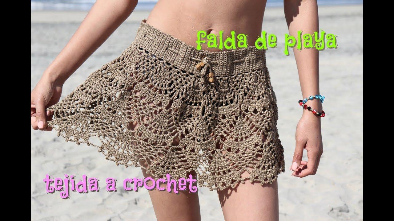 4634080b2 falda Tejida a Crochet by Mayte Crochet