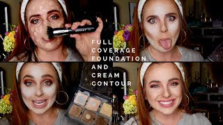 HOW TO APPLY FULL COVERAGE FOUNDATION AND FULL CREAM CONTOUR ROUTINE