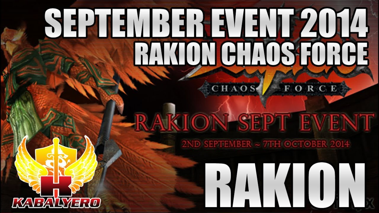 Rakion Chaos Force September Event 2014