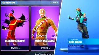 New ITEM SHOP SKINS in Fortnite! (New CLEAN GROOVE Emote)