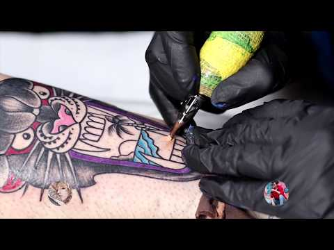Old School Panther Tattoo Time Lapse