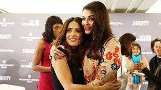Aishwarya Rai - Salma Hayek's Warm Hug | Cannes 2015