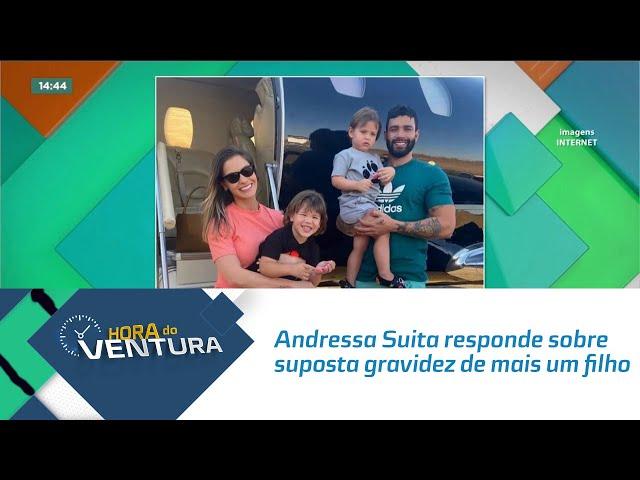 Andressa Suita responde sobre suposta gravidez de mais um filho com Gusttavo Lima