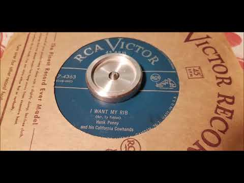 Hank Penny - I Want My Rib - 1951 Country - RCA 47-4363