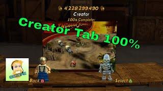 Lego Indiana Jones 2: Creator 100% and achievements tied to it