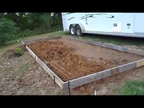 Update On Our Rv Concrete Patio Pad Project Youtube