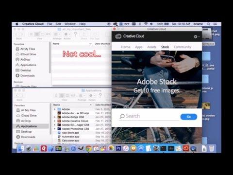 Adobe Creative Cloud - 3.5.0.206 Deleting Data (on Mac)