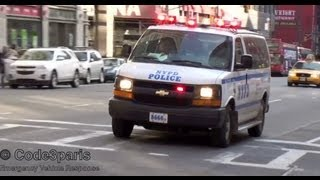 NYPD Police Van Pulling Over Vehicle