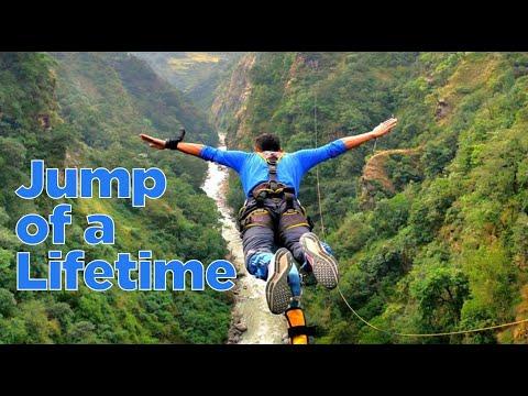 Nepal'dan bungee jumping görüntüleri