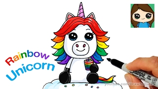 How To Draw A Baby Unicorn Easy Beanie Boos Vloggest