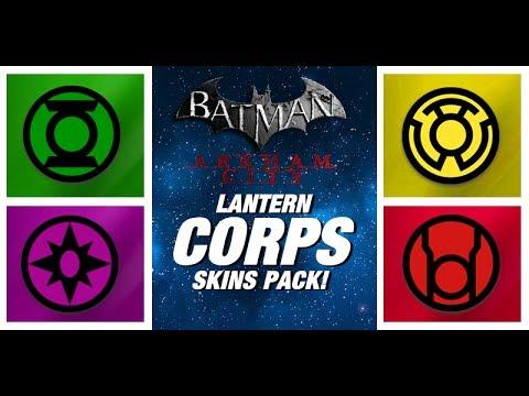 Batman Arkham City: Lantern Corps Skins Pack