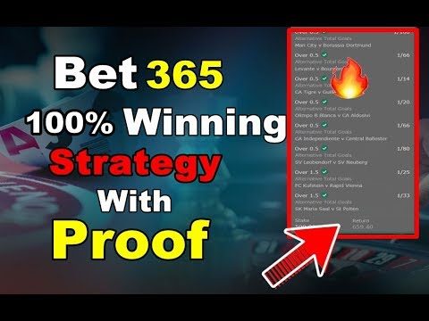 bet365 Winning Tips for Football | 100% Winning Strategy | Trending Techy