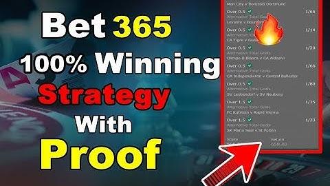 bet365 Winning Tips for Football | 100% Winning Strategy | Trending Techy