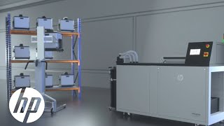 HP JF 5200 Series 3D Automatic Unpacking Station: Consistent, Automatic Unpacking | 3D Printing | HP