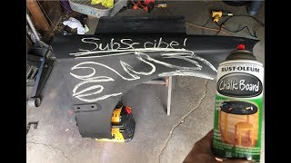 How to chalk board paint using Rustoleum . (DIY Painting)