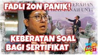 Panik, Ketakutan? Fadli Zon Keberatan Jokowi Bagi-Bagi Sertifikat!