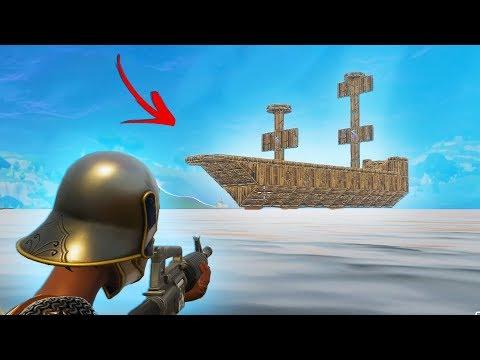 BUILDING A HUGE PIRATE SHIP In Fortnite Battle Royale!