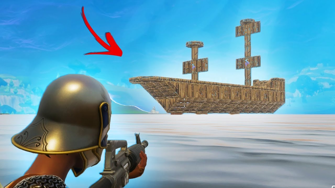 Building The World S Biggest Pirate Ship Fortnite Battle Royale