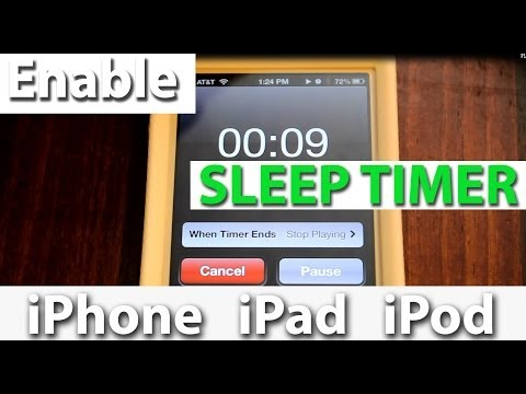 How to set a Sleep Timer on iPhone, iPad, &  iPods