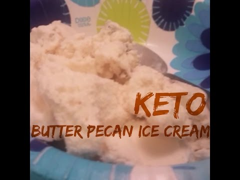 Low Carb / Keto Butter Pecan Ice Cream