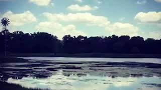 Time lapse clouds Texas pond with Sonic Robot Korg Gadget music
