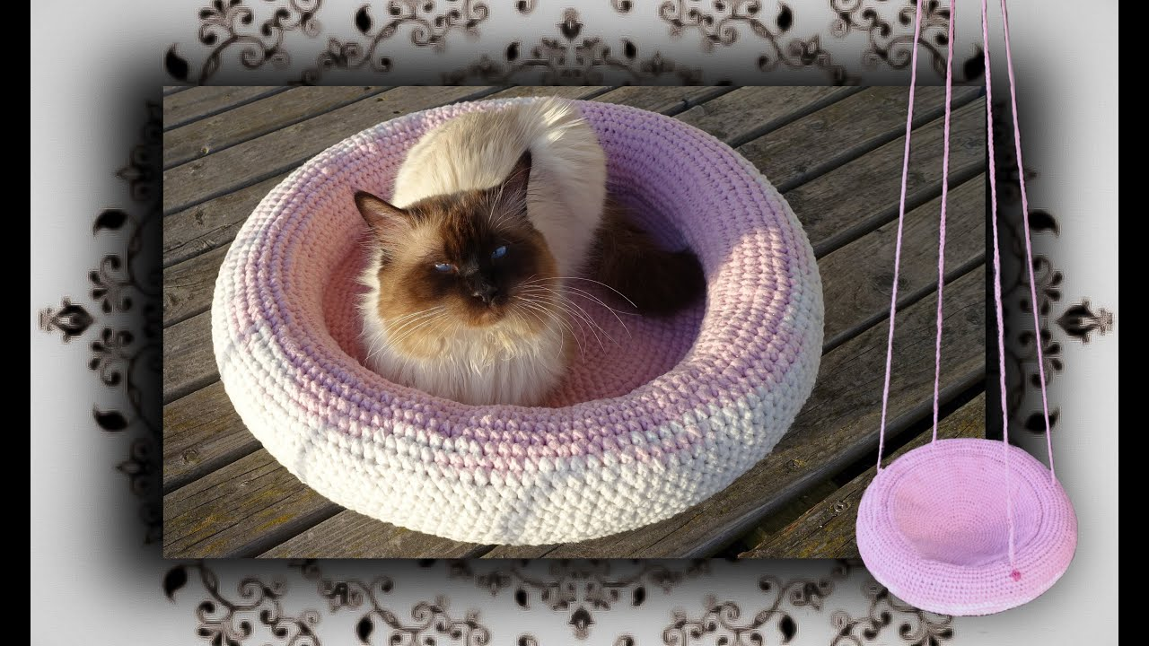 diy 4 in 1 h kel k rbchen liegemulde schaukel f r katzen hunde crochet for cat youtube. Black Bedroom Furniture Sets. Home Design Ideas
