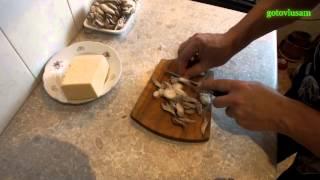 Пицца с ветчиной и грибами / Pizza with ham and mushrooms