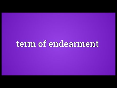 Term of endearment Meaning