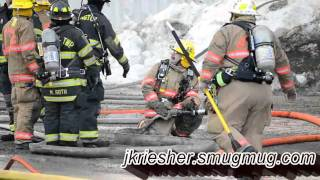 Lehigh Twp. Barn Fire - 2/13/2011