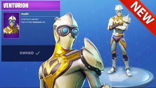 *NEW* VENTURION SKIN AVAILABLE NOW! AIRFOIL PICKAXE & TRIUMPH GLIDER Fortnite Battle Royale