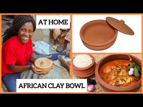 HOW TO MAKE A CLAY POT: Amazing clay bowl by a Ghanaian - Eco-friendly