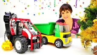 ВИДЕО ДЛЯ ДЕТЕЙ: #веселаяшкола! Новый Год с #КАПУКИКАНУКИ: Маша и #машинки наряжают елку! 🎄🚗