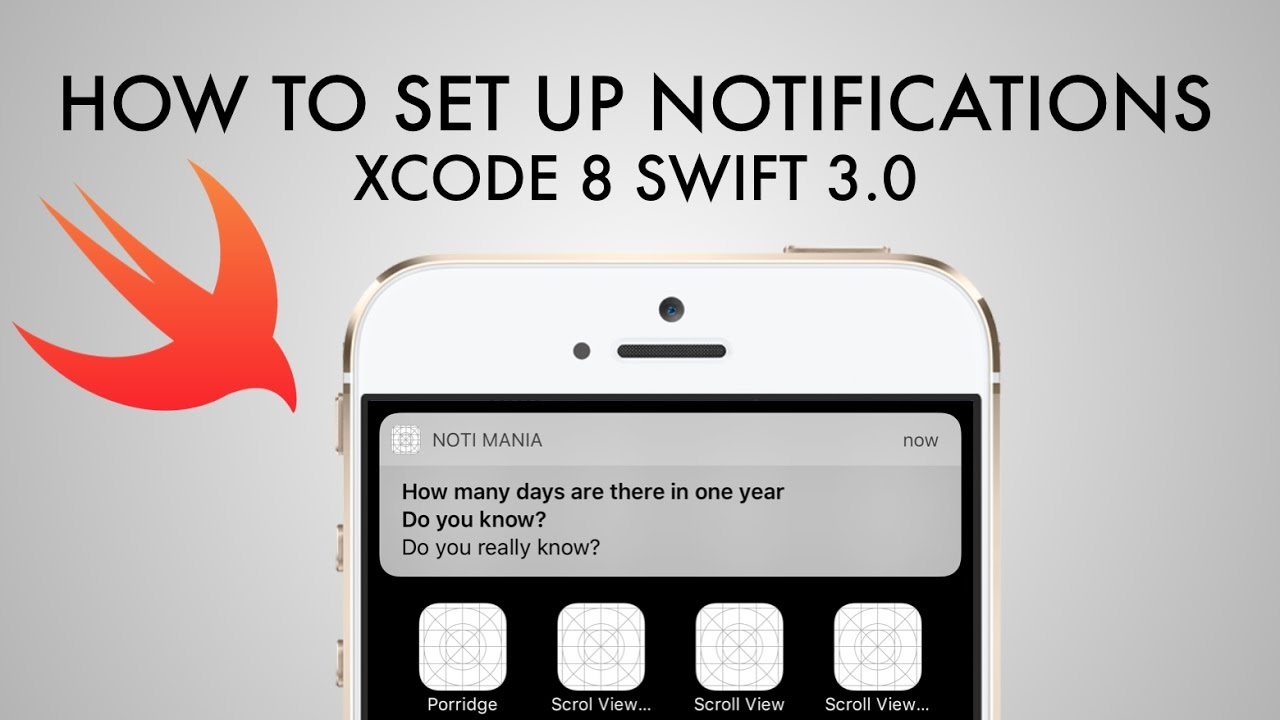 How To Set Up Local Notifications In Xcode 8 (Swift 3 0)