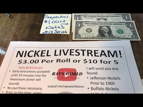 SEQUENTIAL $1 NOTES AND NICKLE LIVE STREAM