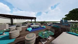 Villa Landscape design Dubai - Pool & Entertainment Area