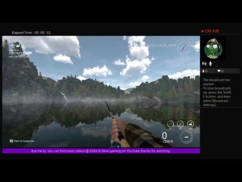 Fishing Planet how to change cast bait rod depth Ps4