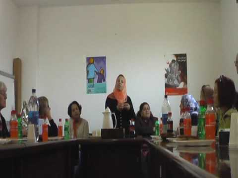 Part 1 Center for Womans rights in Gaza, in Arabic and English