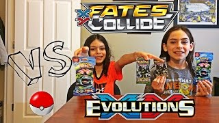 pokmon xy evolutions and xy fates collide card opening