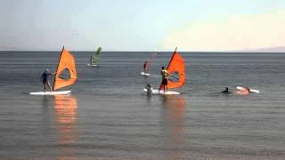 Бесплатный урок по виндсерфингу с Сашей Сорокиным RUS136!  Winsurfing beginners