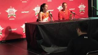 Sue Bird and Diana Taurasi Addressing The Media After The 2017 All Star Game