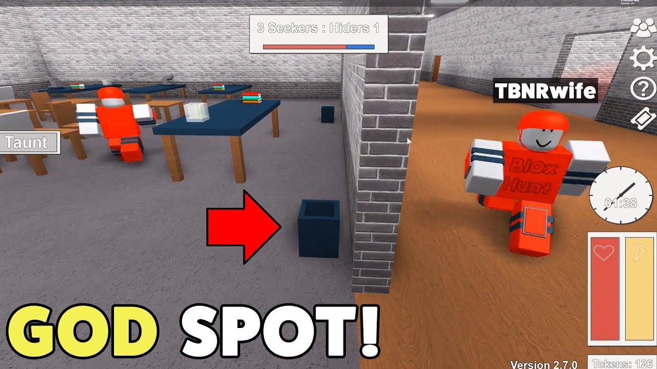 Roblox Hide And Seek Funny Secret Roblox Hide Seek Spots They Never Found Me Youtube